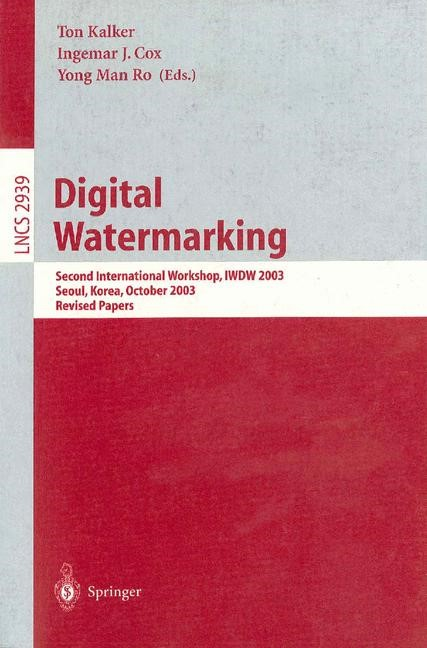 Digital Watermarking | Kalker / Ro / Cox, 2004 | Buch (Cover)