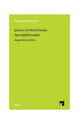 Abbildung von Herder / Heintel | Sprachphilosophie | 2005 | Ausgewählte Schriften | 574