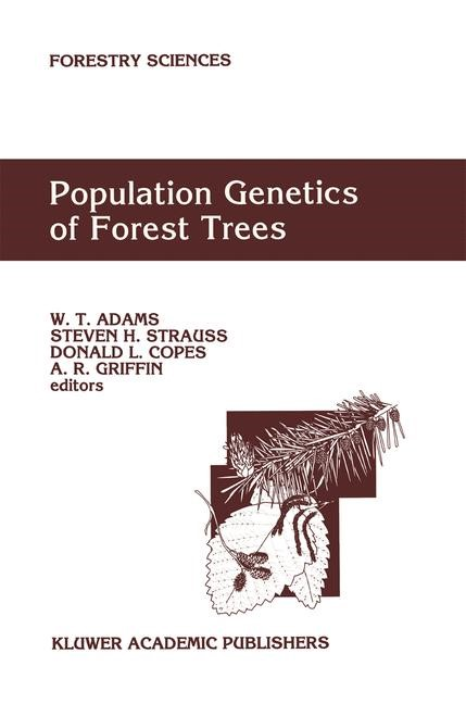 Population Genetics of Forest Trees | Adams / Strauss / Copes / Griffin, 1992 | Buch (Cover)