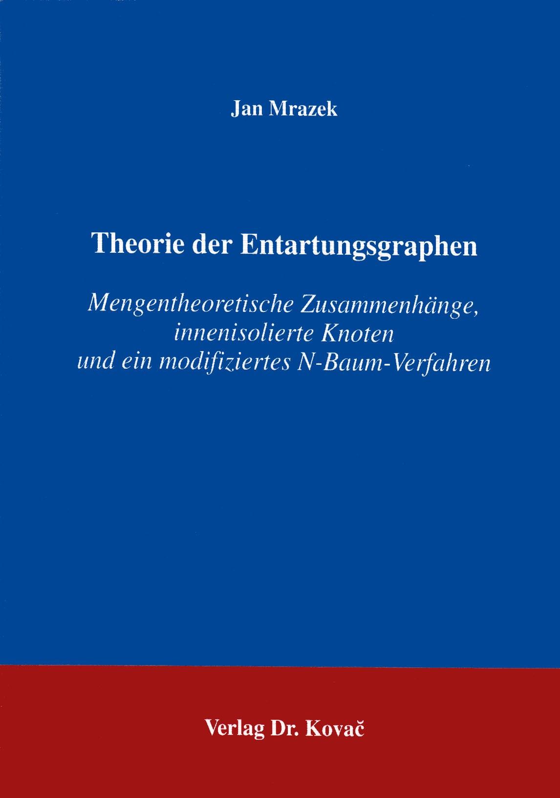 Theorie de Entartungsgraphen   Mrazek, 1994   Buch (Cover)