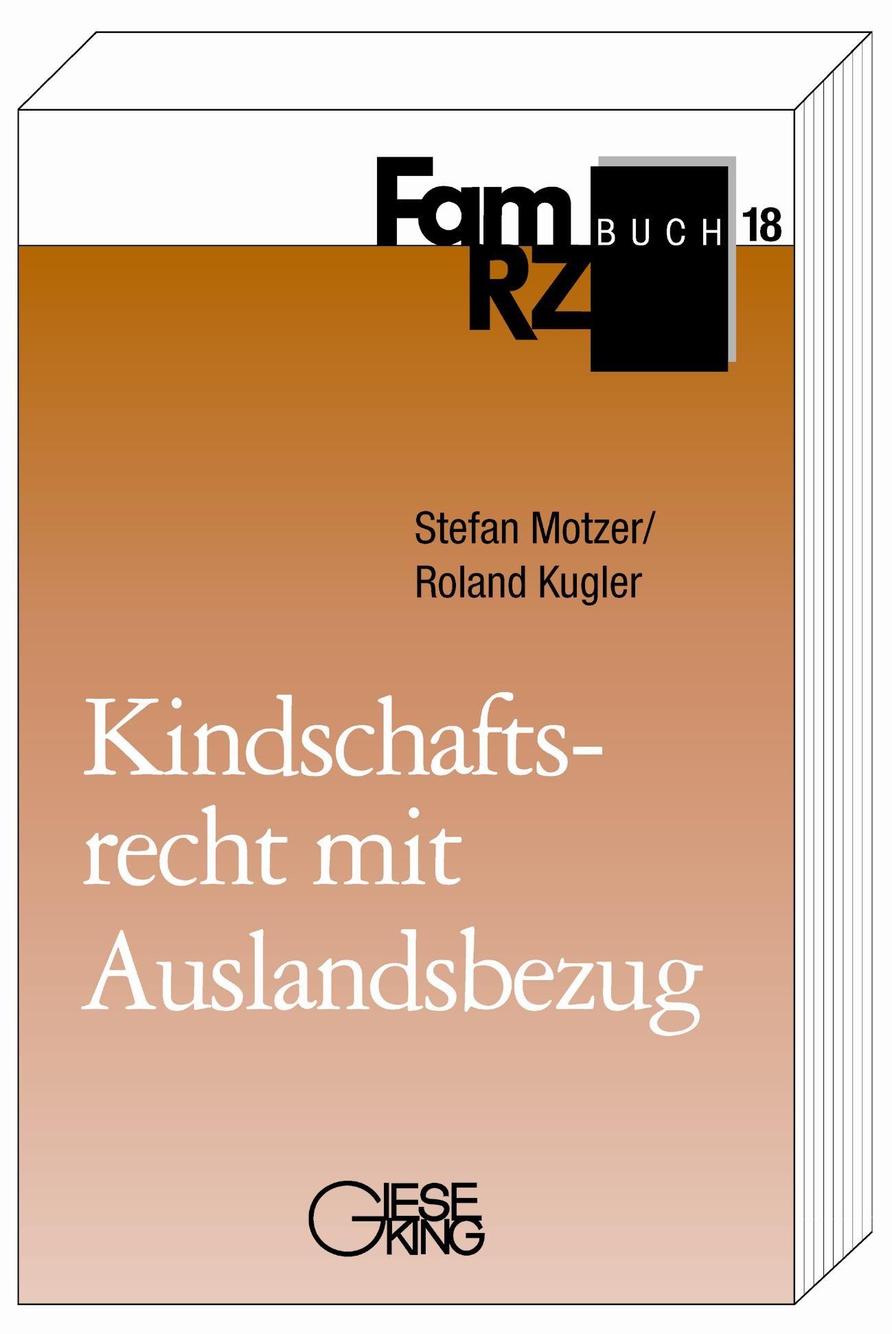Kindschaftsrecht mit Auslandsbezug | Motzer / Kugler, 2003 | Buch (Cover)