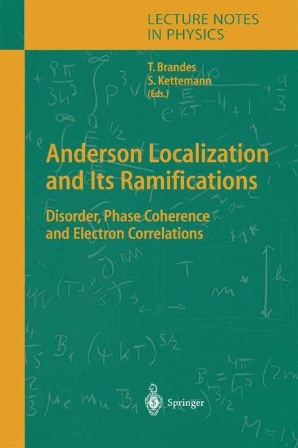 Anderson Localization and Its Ramifications | Brandes / Kettemann | Softcover version of original hardcover edition 2004, 2010 | Buch (Cover)