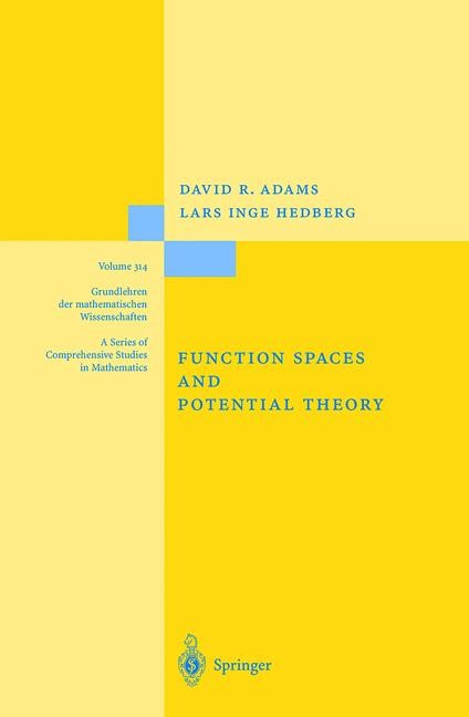 Function Spaces and Potential Theory | Adams / Hedberg | 1st ed. 1996. Corr. 2nd printing. Softcover version of original hardcover edition 1996, 2010 | Buch (Cover)