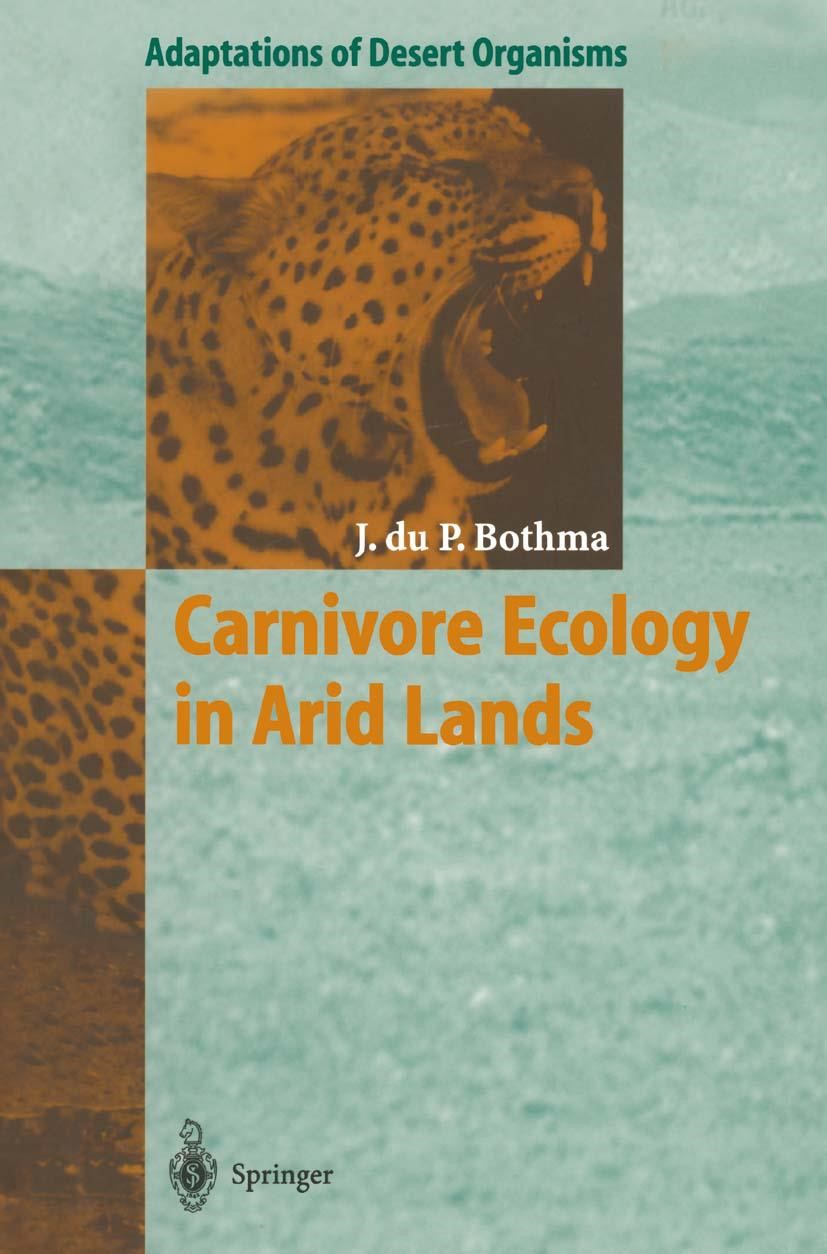 Carnivore Ecology in Arid Lands | Bothma | 1st Edition. Softcover version of original hardcover edition 1998, 2010 | Buch (Cover)