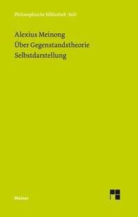 Abbildung von Meinong / Werle | Über Gegenstandstheorie. Selbstdarstellung | 2013