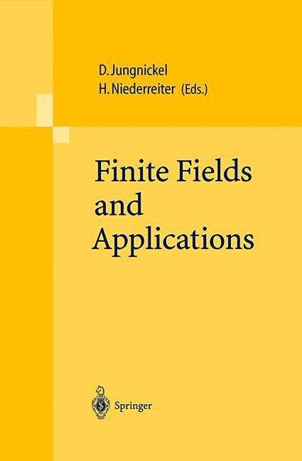 Finite Fields and Applications | Jungnickel / Niederreiter, 2001 | Buch (Cover)