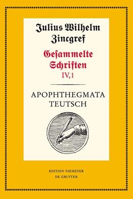 Abbildung von Mertens / Schnabel / Verweyen | Apophthegmata teutsch | 2 vols. Cplt. approx. 1443 pages. 24 figs. | 2011 | 1: Text. 2: Erläuterungen, Übe... | 57/58