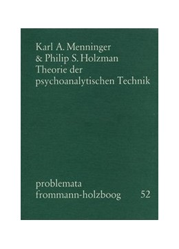 Abbildung von Menninger / Holzboog | Theorie der psychoanalytischen Technik | 1. Auflage | 1977 | 52 | beck-shop.de