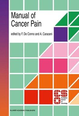 Abbildung von de Conno / Caraceni | Manual of Cancer Pain | 1996