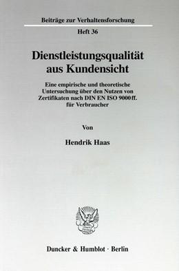 Abbildung von Haas | Dienstleistungsqualität aus Kundensicht. | 1998 | Eine empirische und theoretisc... | 36