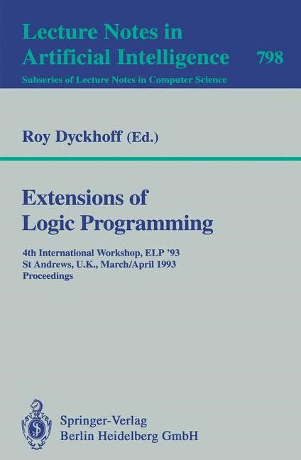 Extensions of Logic Programming | Dyckhoff, 1994 | Buch (Cover)