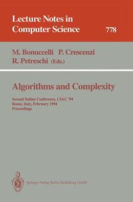 Abbildung von Bonuccelli / Crescenzi / Petreschi | Algorithms and Complexity | 1994 | Second Italian Conference, CIA... | 778