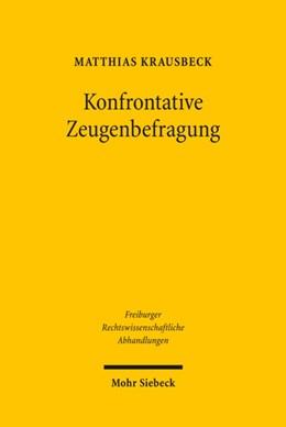 Abbildung von Krausbeck   Konfrontative Zeugenbefragung   2010   Vorgaben des Art. 6 Abs. 3 lit...   7