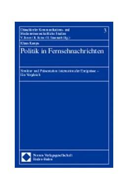 Abbildung von Politik in Fernsehnachrichten | 1999 | Struktur und Präsentation inte... | 3