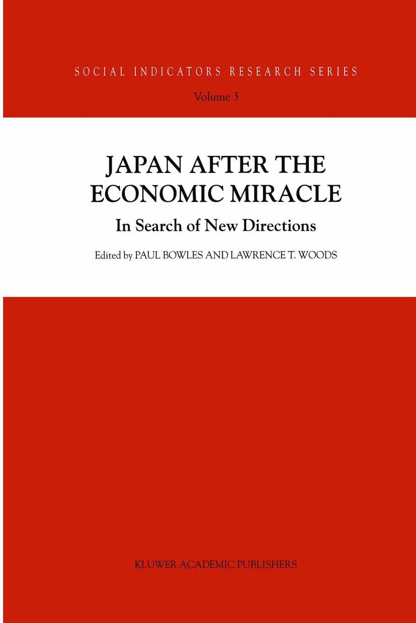 Japan after the Economic Miracle | Bowles / Woods, 1999 | Buch (Cover)
