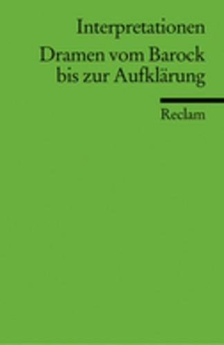 Abbildung von Dramen vom Barock bis zur Aufklärung | 2000