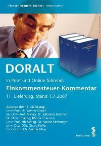 Abbildung von Doralt   Einkommenssteuergesetz - 11. Ergänzungslieferung   Stand: 07/2007   2007
