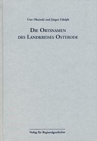 Die Ortsnamen des Landkreises Osterode | Ohainski / Udolph, 2000 | Buch (Cover)