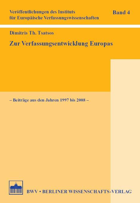 Zur Verfassungsentwicklung Europas | Brandt / Haratsch / Schmidt, 2008 | Buch (Cover)