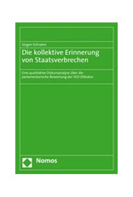 Abbildung von Schraten   Die kollektive Erinnerung von Staatsverbrechen   2008   Eine qualitative Diskursanalys...