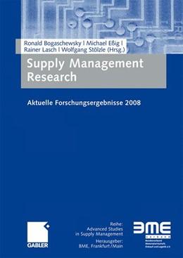 Abbildung von Bogaschewsky / Eßig / Lasch / Stölzle   Supply Management Research   2008   Aktuelle Forschungsergebnisse ...
