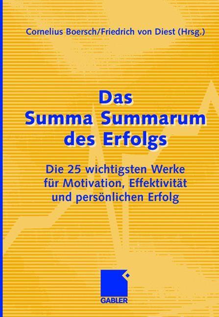 Abbildung von Boersch / von Dienst | Das Summa Summarum des Erfolgs | 2006