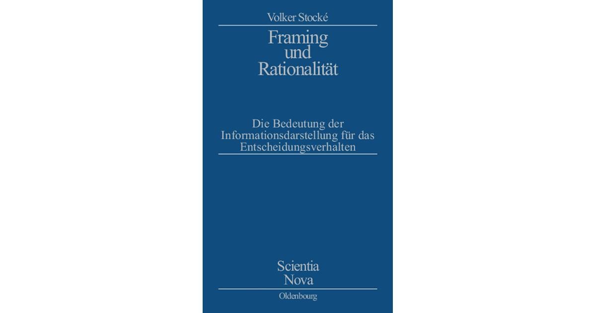 Framing und Rationalität   Stocke, 2002   Buch   beck-shop.de