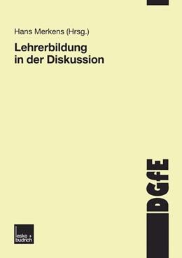 Abbildung von Merkens   Lehrerbildung in der Diskussion   2003   Schriften der Deutschen Gesell...