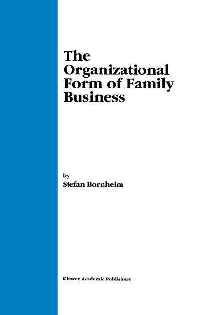 The Organizational Form of Family Business | Bornheim, 2000 | Buch (Cover)