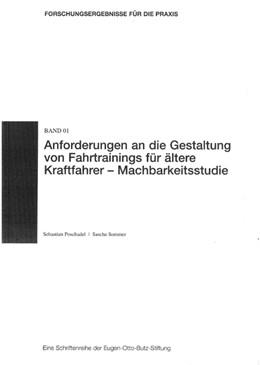 Abbildung von Poschadel / Sommer | Anforderungen an die Gestaltung von Fahrtrainings für ältere Kraftfahrer - Machbarkeitsstudie | 2007 | 1