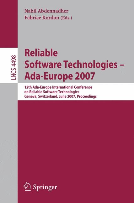 Reliable Software Technologies - Ada-Europe 2007 | Abdennahder / Kordon, 2007 | Buch (Cover)
