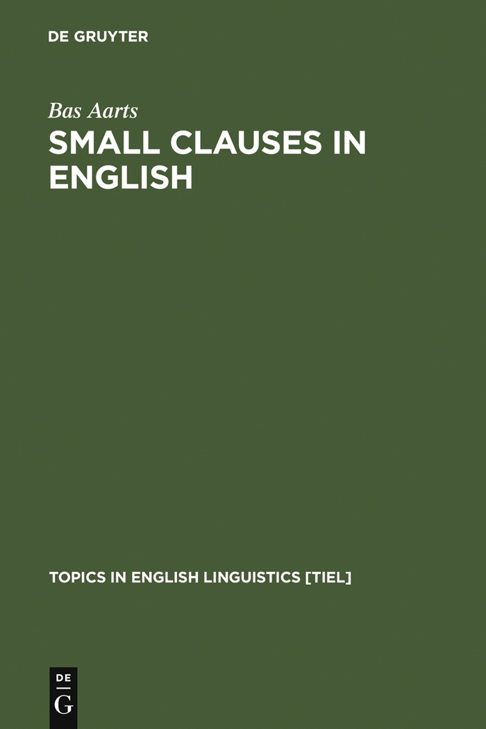 Small Clauses in English | Aarts | Reprint 2012, 1992 | Buch (Cover)