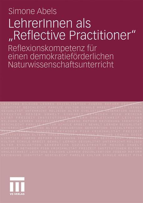 "LehrerInnen als ""Reflective Practitioner"" | Abels, 2010 | Buch (Cover)"