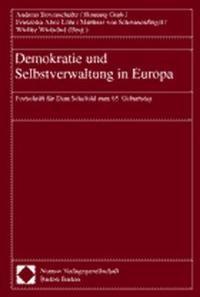 Demokratie und Selbstverwaltung in Europa | Bovenschulte / Grub / Löhr / Schwanenflügel / Wietschel, 2001 | Buch (Cover)