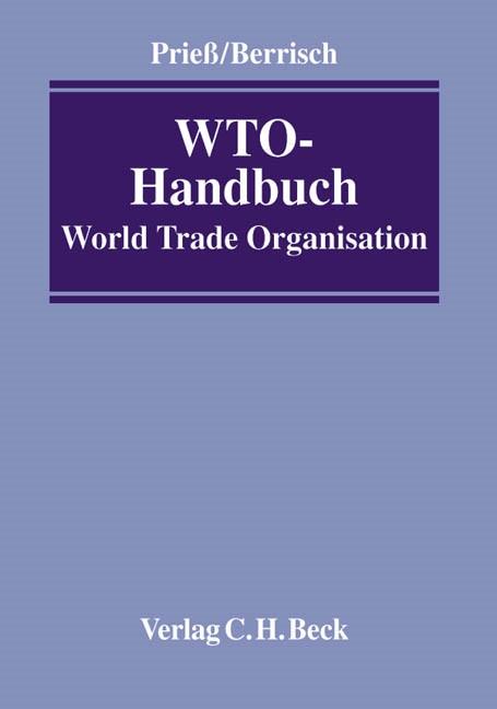 WTO-Handbuch | Prieß / Berrisch, 2003 | Buch (Cover)