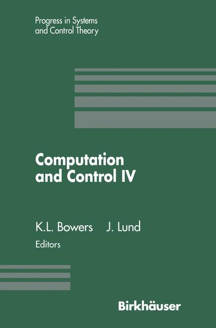 Computation and Control IV | Bowers / Lund, 1995 | Buch (Cover)