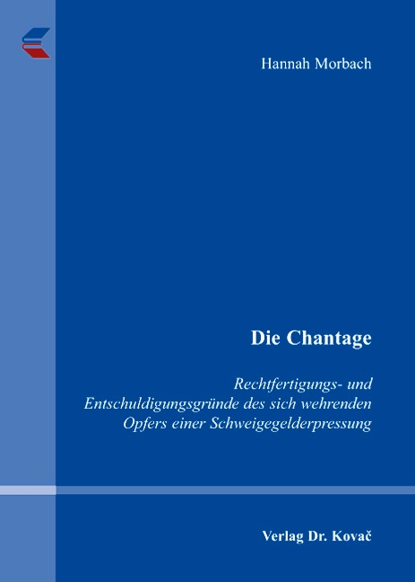 Die Chantage | Morbach, 2007 | Buch (Cover)