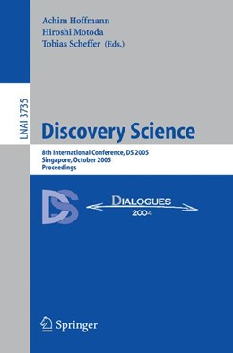 Abbildung von Hoffmann / Motoda / Scheffer | Discovery Science | 2005 | 8th International Conference, ...
