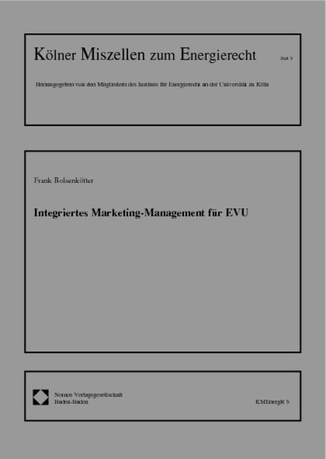 Abbildung von Bolsenkötter   Integriertes Marketing-Management für EVU   2000