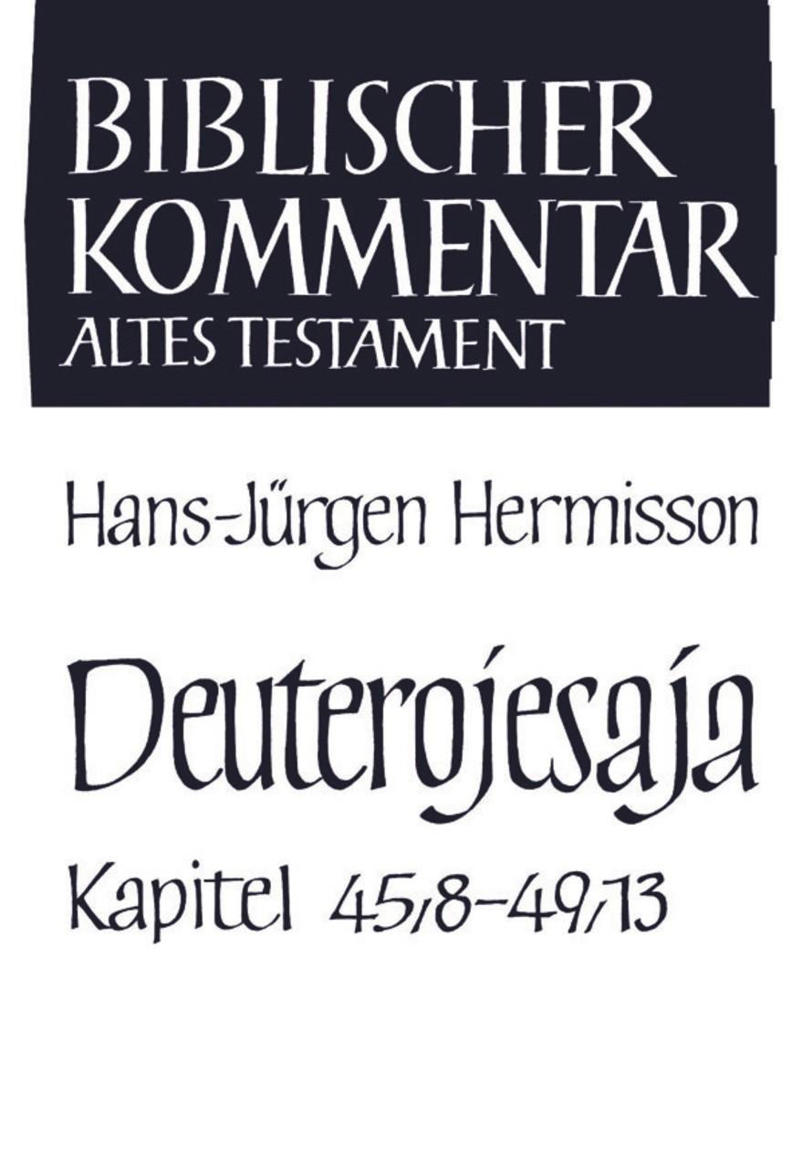 Abbildung von Meinhold / Schmidt / Thiel / Wolff / Herrmann | Deuterojesaja (45,8-49,13) | 2003