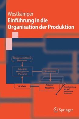 Abbildung von Westkämper | Einführung in die Organisation der Produktion | 2005