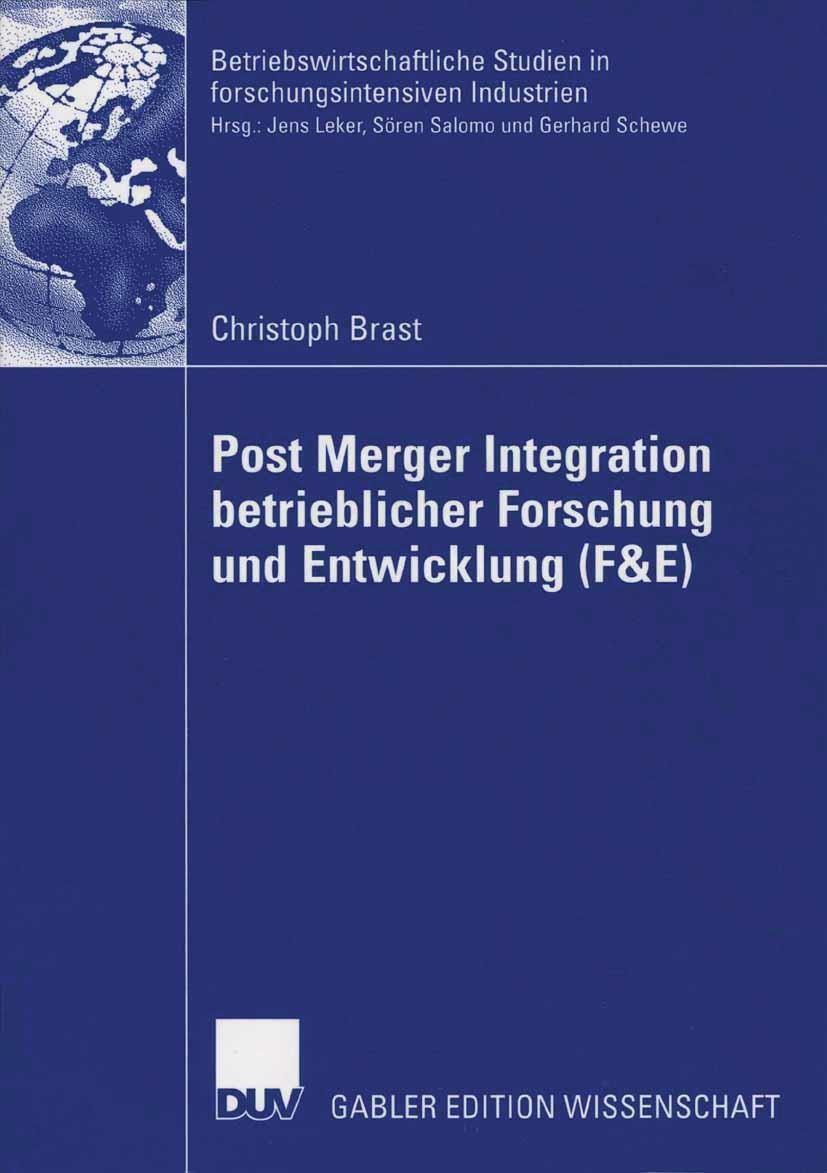 Post Merger Integration betrieblicher Forschung und Entwicklung (F&E) | Brast, 2006 | Buch (Cover)