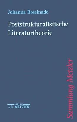 Abbildung von Bossinade   Poststrukturalistische Literaturtheorie   2000