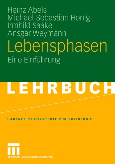 Lebensphasen | Abels / Honig / Saake, 2008 | Buch (Cover)