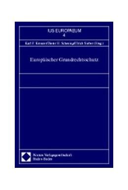 Abbildung von Kreuzer / Scheuing / Sieber | Europäischer Grundrechtsschutz | 1998 | 4