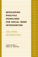 Abbildung von Rosen / Proctor | Developing Practice Guidelines for Social Work Intervention | 2003