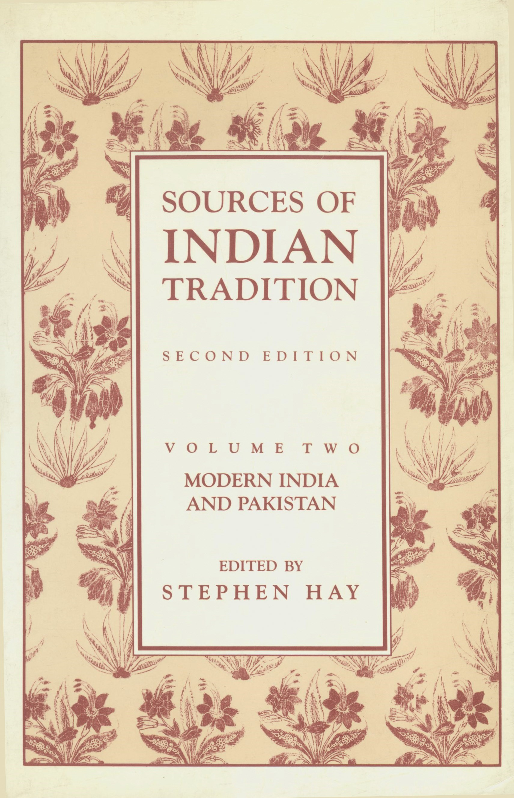 Abbildung von Embree / Hay | Sources of Indian Tradition | second edition | 1988