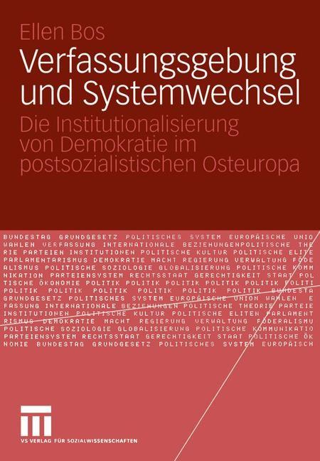 Verfassungsgebung und Systemwechsel | Bos, 2004 | Buch (Cover)