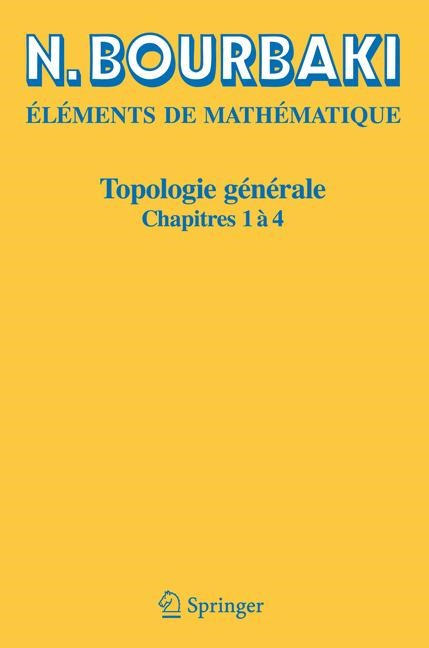 Topologie générale | Bourbaki | Réimpression inchangée de l'édition de 1971., 2006 | Buch (Cover)