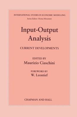 Abbildung von Giaschini | Input-Output Analysis | 1988 | Current Developments